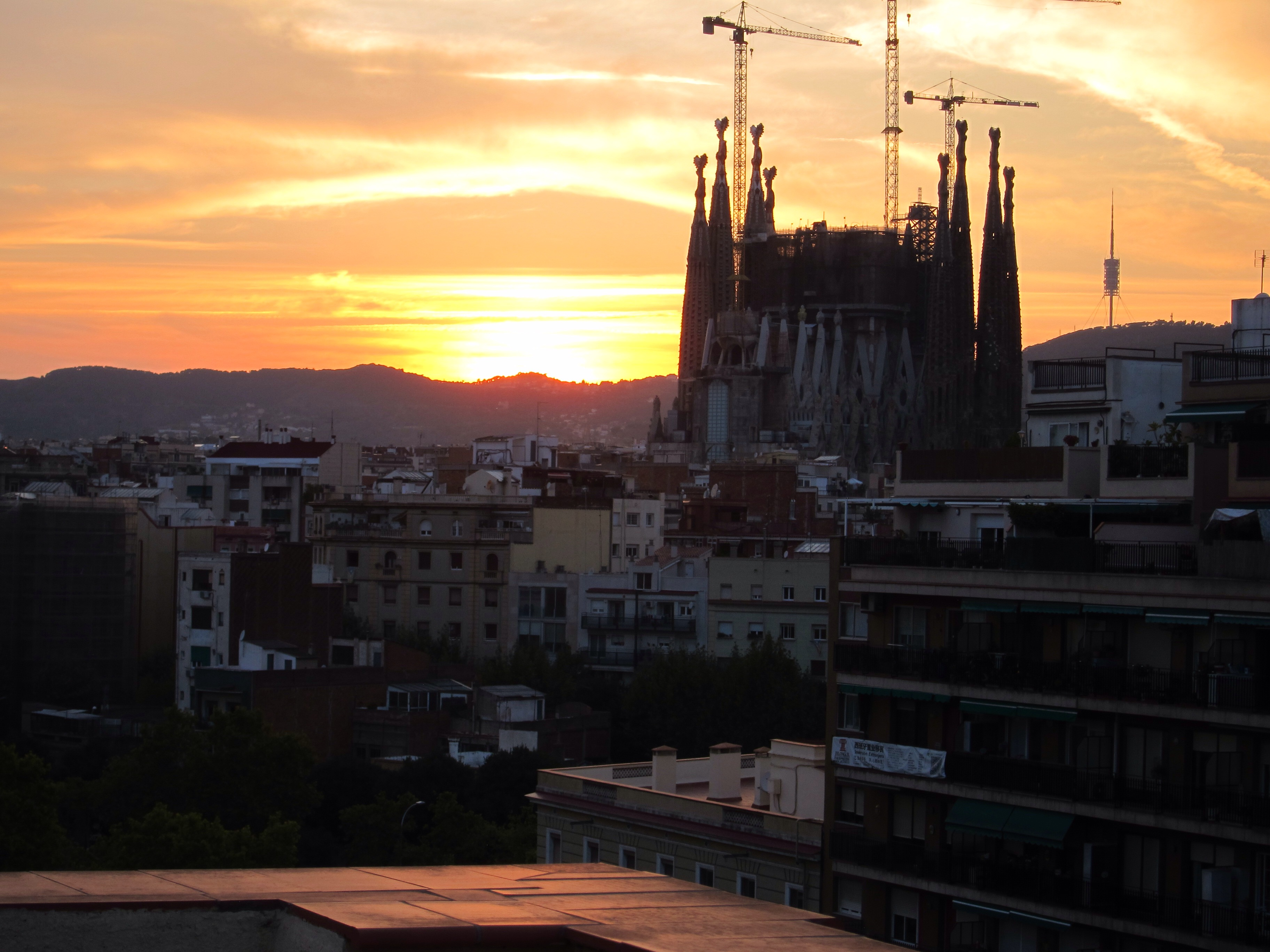 View from the balcony of the Sagrada Familia.