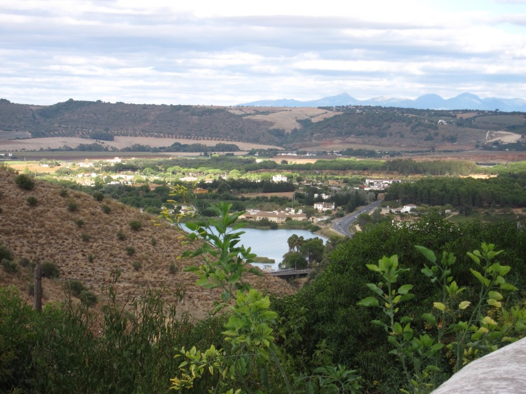 The view of the valley from Arcos de la Frontera
