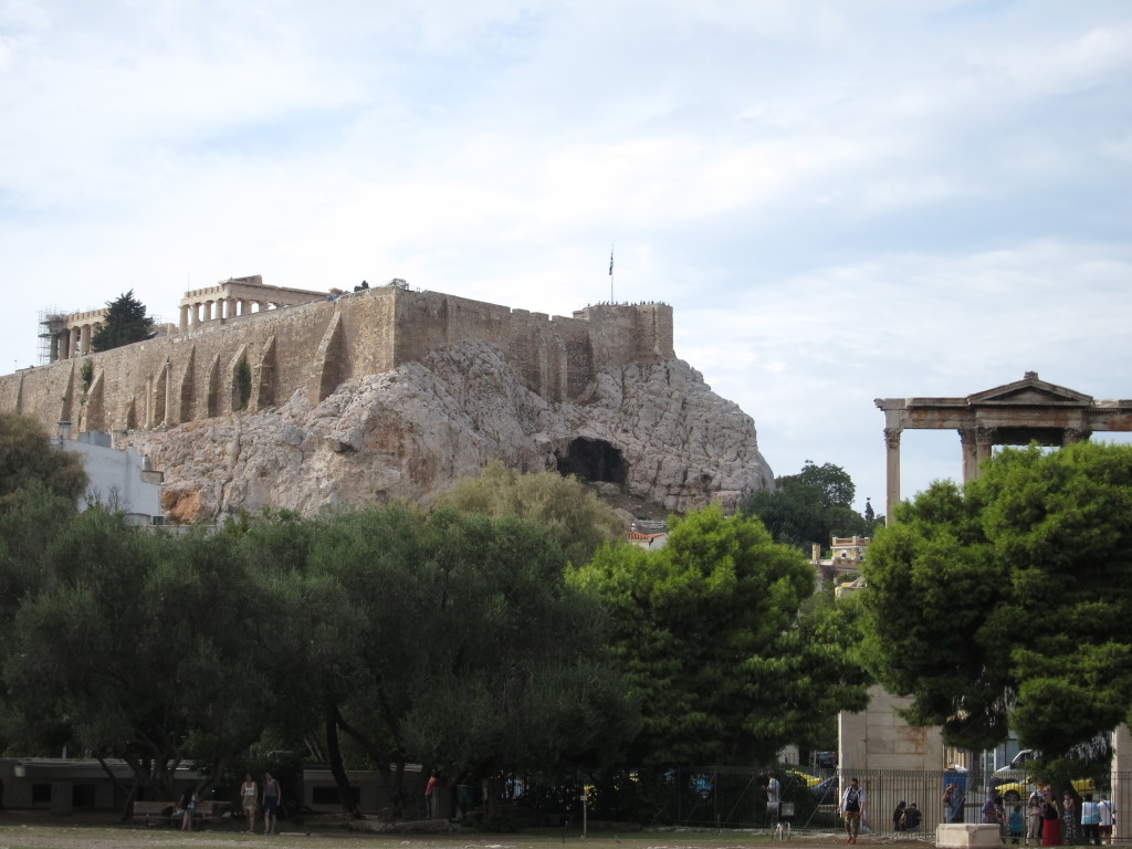 The view of the Parthenon from Hadrian's Arch