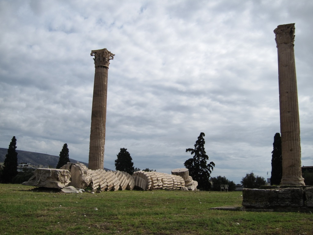 """Part of the Temple of Zeus. In this case, """"if it's broke, maybe we don't have to fix it""""!"""