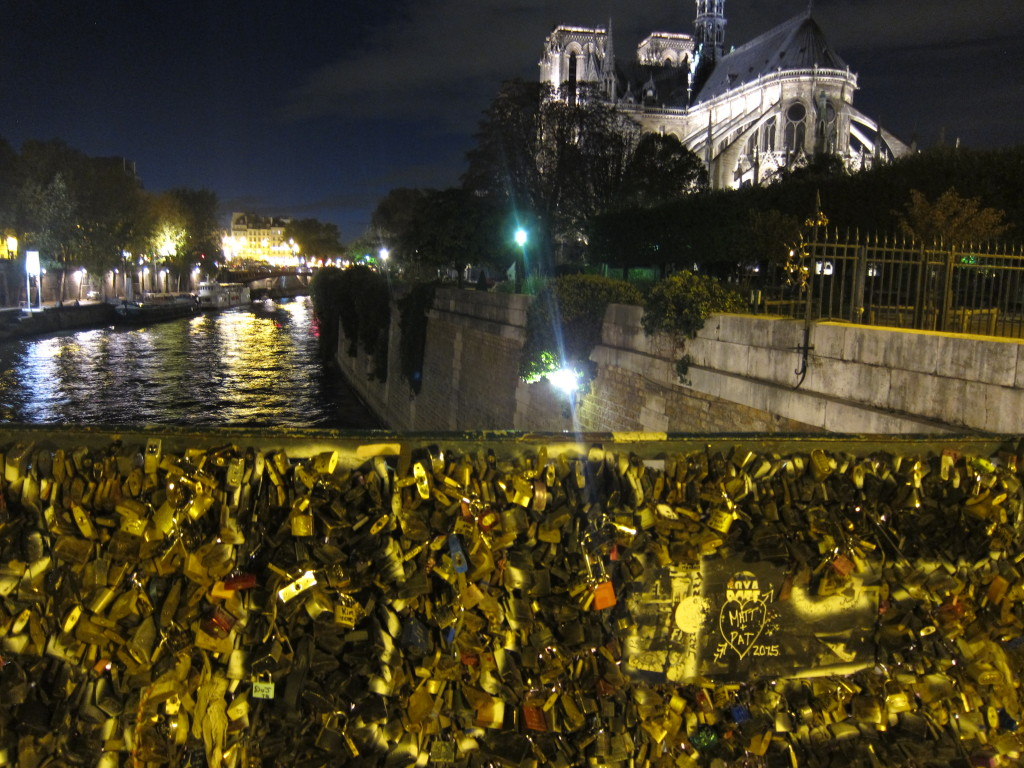 Paris is a city where love is expressed in so many ways like this bridge full of lovers' locks near Notre Dame.